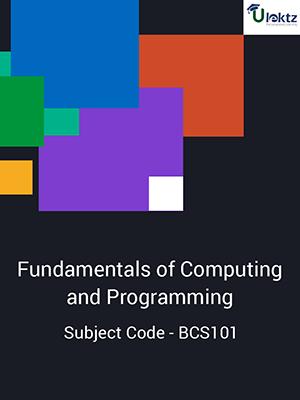 Fundamentals Of Computing And Programming