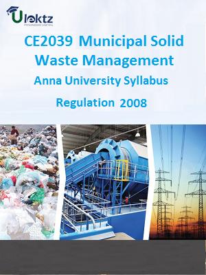 Municipal Solid Waste Management Syllabus