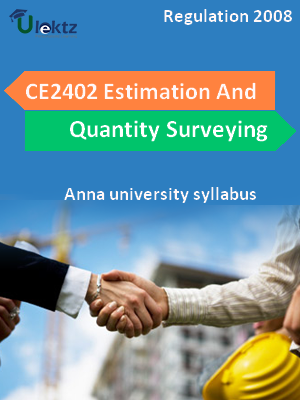 Estimation And Quantity Surveying Syllabus