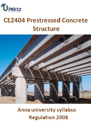 Prestressed Concrete Structure Syllabus