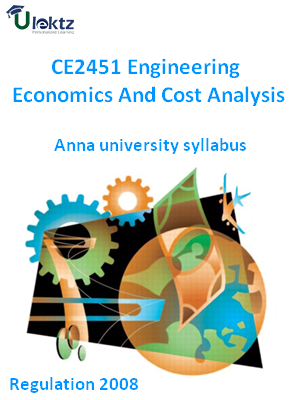 Engineering Economics And Cost Analysis Syllabus