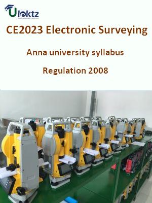 Electronic Surveying Syllabus