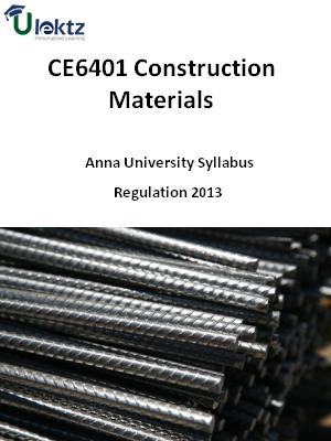 Construction Materials Syllabus