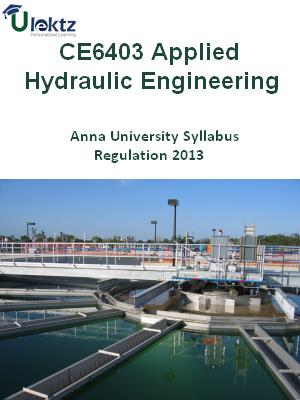 Applied Hydraulic Engineering Syllabus