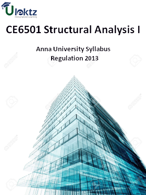 Structural Analysis I Syllabus