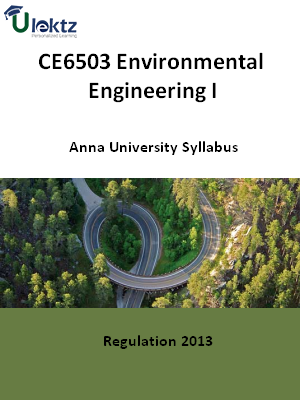 Environmental Engineering I Syllabus
