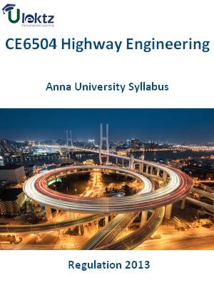 Highway Engineering Syllabus