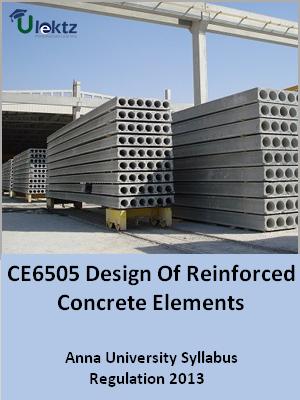 Design Of Reinforced Concrete Elements Syllabus