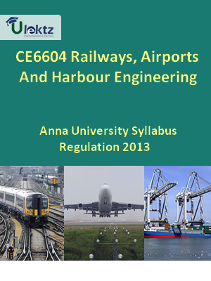Railways, Airports And Harbour Engineering Syllabus