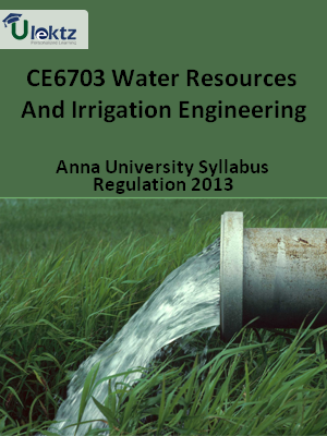 Water Resources And Irrigation Engineering Syllabus
