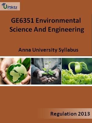 Environmental Science And Engineering Syllabus