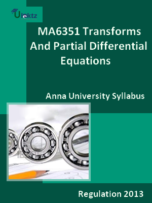 Transforms And Partial Differential Equations Syllabus