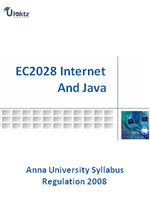 Internet And Java - Syllabus
