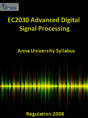 Advanced Digital Signal Processing  Syllabus