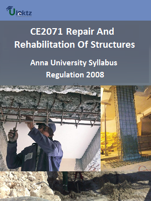 Repair and Rehabilitation of Structures - Syllabus