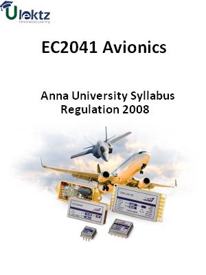 Avionics - Syllabus