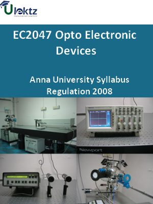 Opto Electronic Devices - Syllabus