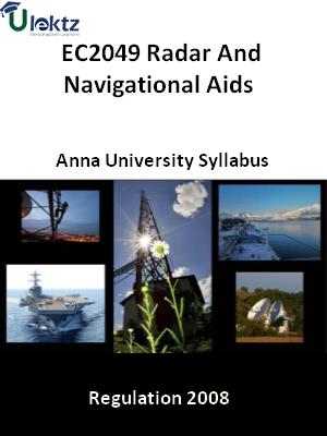 Radar And Navigational Aids - Syllabus