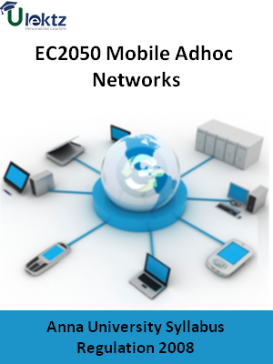Mobile Adhoc Networks - Syllabus