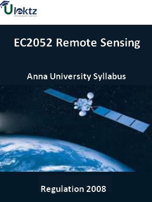 Remote Sensing - Syllabus