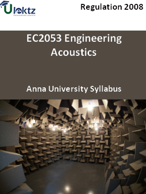 Engineering Acoustics   Syllabus