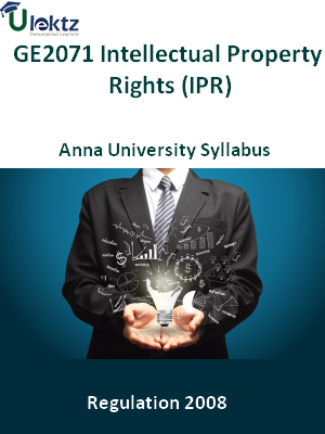 Intellectual Property Rights (IPR) - Syllabus