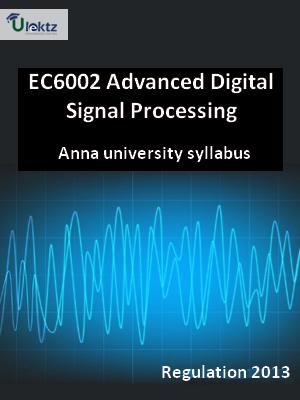 Advanced Digital Signal Processing - Syllabus