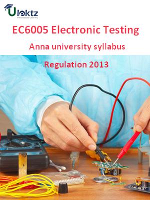 Electronic Testing - Syllabus