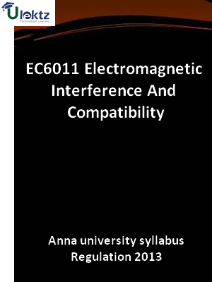 Electromagnetic Interference And Compatibility - Syllabus