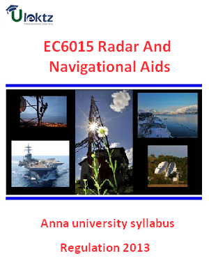 Radar And Navigational Aids - Syllabus