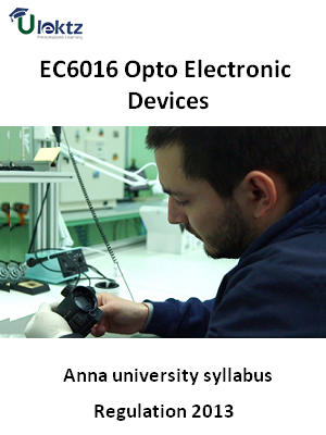 Opto Electronic Devices - Syllabus