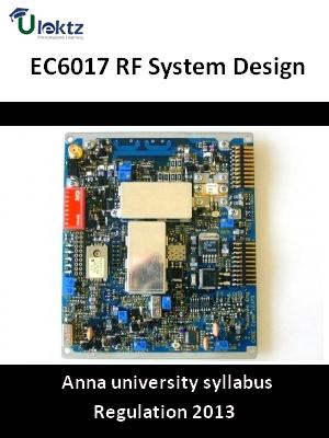 RF System Design - Syllabus