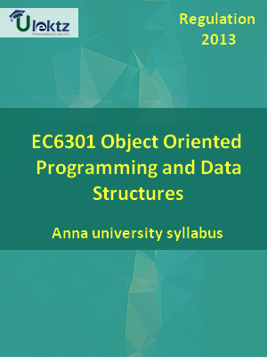 Object Oriented Programming and Data Structures - Syllabus