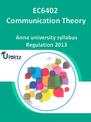Communication Theory - Syllabus