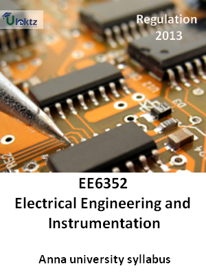 Electrical Engineering and Instrumentation - Syllabus
