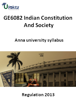 Indian Constitution And Society - Syllabus