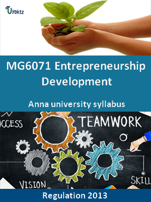 Entrepreneurship Development - Syllabus