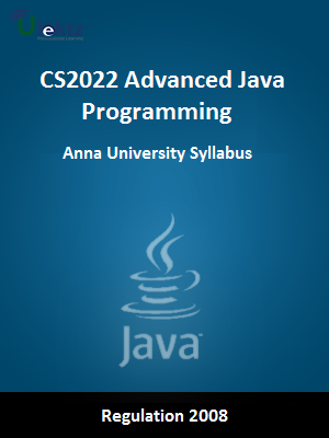 Advanced Java Programming  - Syllabus
