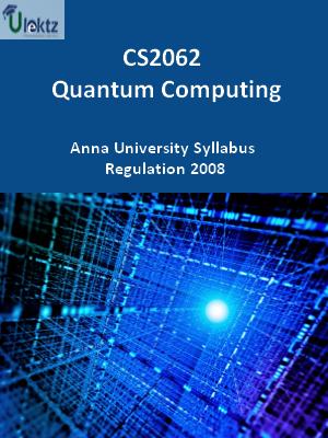 Quantum Computing - Syllabus