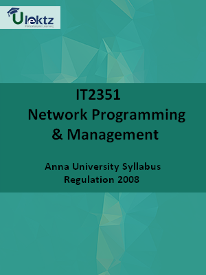 Network Programming And Management - Syllabus