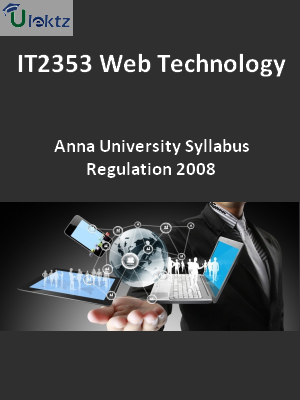 Web Technology - Syllabus