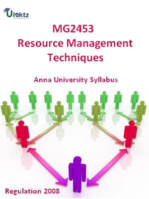 Resource Management Techniques - Syllabus