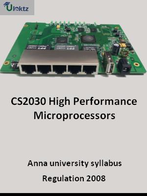 High Performance Microprocessors - Syllabus