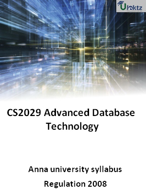 Advanced Database Technology - Syllabus