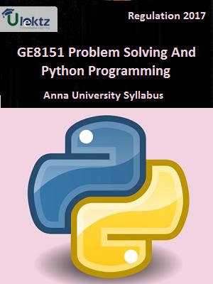 Problem Solving And Python Programming - Syllabus