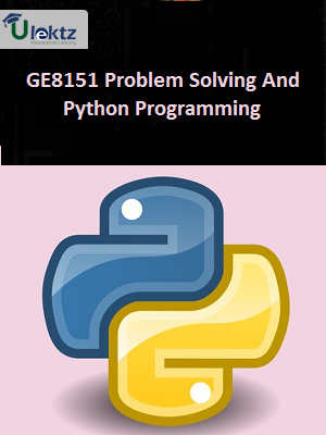 Problem Solving And Python Programming