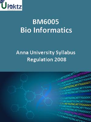 Bio Informatics - Syllabus