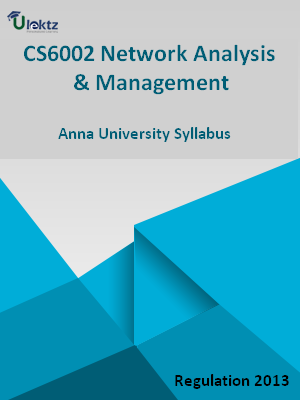 Network Analysis And Management - Syllabus