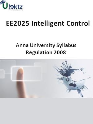 Intelligent Control - Syllabus