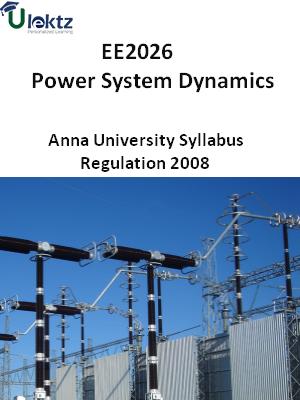 Power System Dynamics - Syllabus